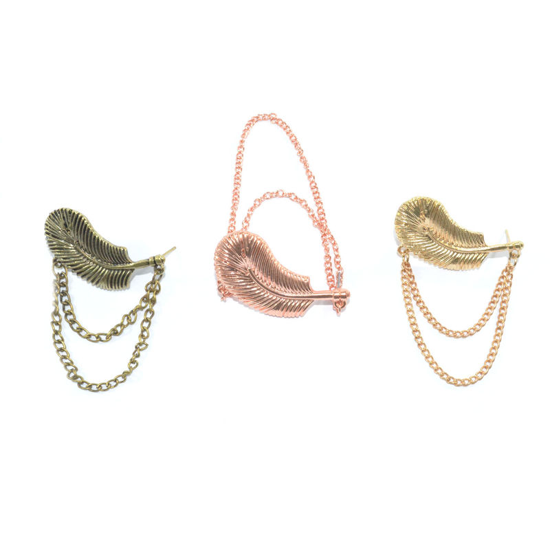 LEAF AND CHAIN EARRING - Rings & Tings | Online fashion store ...