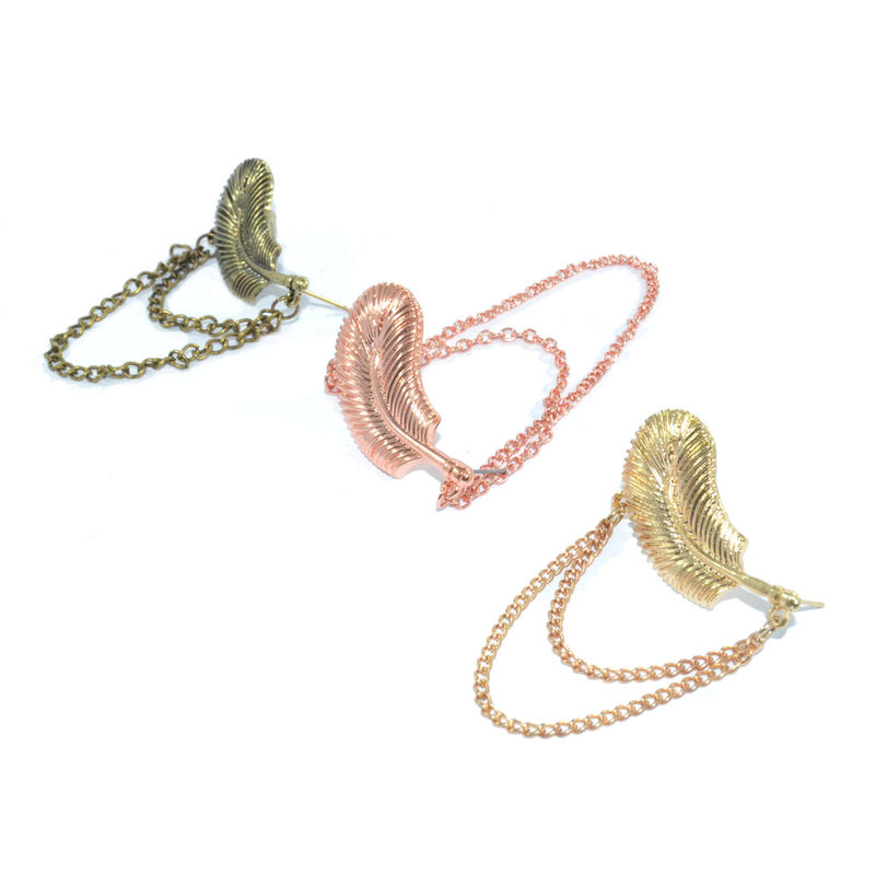 LEAF AND CHAIN EARRING - product image
