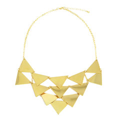 LAYERED,TRIANGLES,PENDANT,NECKLACE