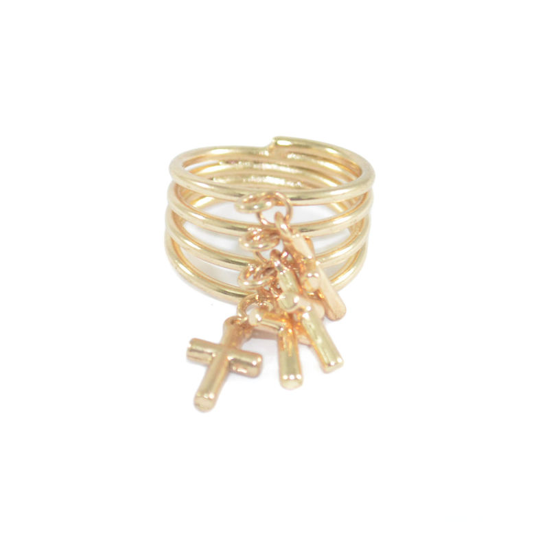 LAYER MULTI CROSS RING - product image