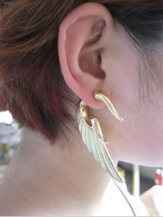 LARGE WING EARRINGS - product image