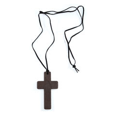 WOOD,CROSS,NECKLACE