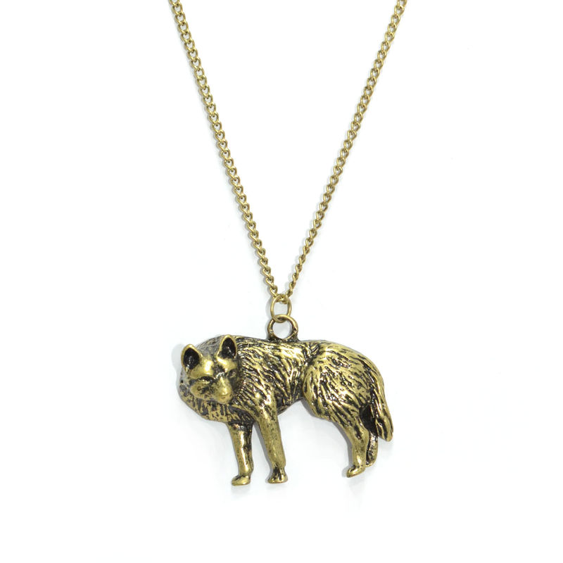 Wolf pendant necklace rings tings online fashion store shop wolf pendant necklace product image aloadofball Choice Image
