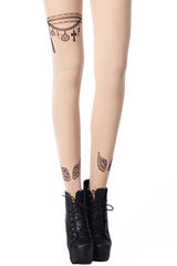 WINGS,CHARM,BRACELET,GOTHIC,TATTOO,PATTERN,TIGHTS