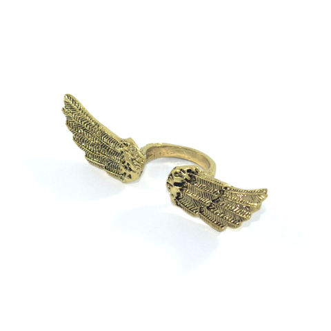 WING-SPAN,RING,gold wing ring, silver wing ring, wing knuckle ring