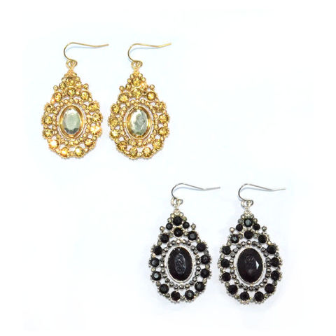WATER,DROP,SHAPE,VINTAGE,STYLE,CRYSTALS,DECORATION,EARRINGS