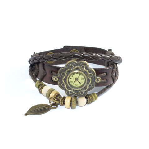 VINTAGE,WOVEN,STRAP,AND,CHARM,BRACELET,WATCH