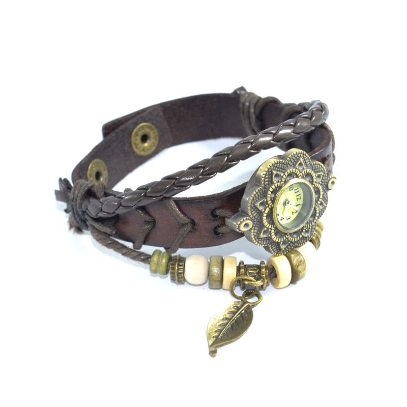 VINTAGE WOVEN STRAP AND CHARM BRACELET WATCH - product image