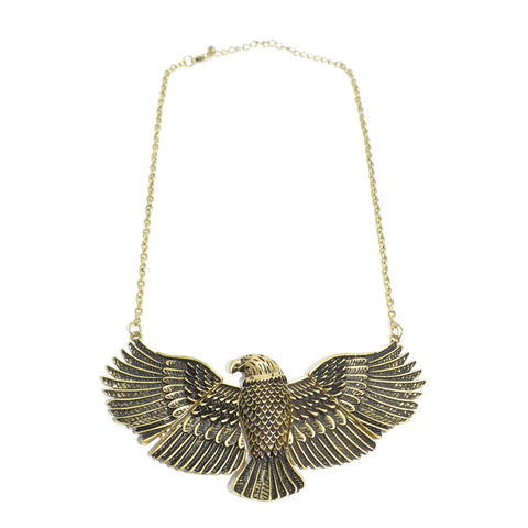 VINTAGE,STYLE,WING,SPAN,EAGLE,NECKLACE