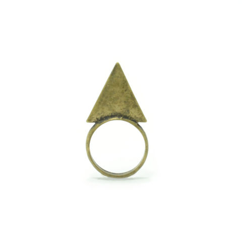 VINTAGE,STYLE,TRIANGLE,RING,dagger ring, triangle ring, minimal triangle ring