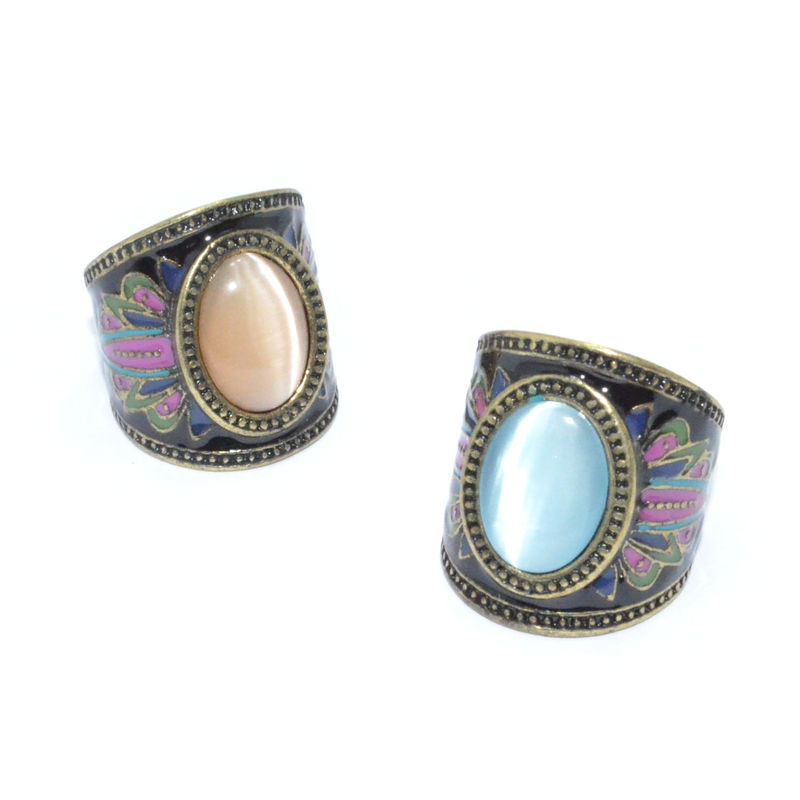 VINTAGE STYLE PATTERN GEM RING - product image