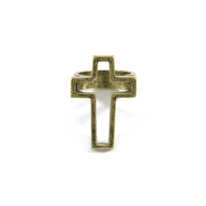 VINTAGE STYLE HOLLOW CROSS RING - product image