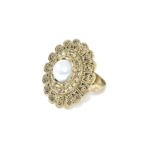 VINTAGE,STYLE,FLOWER,RING,gold floral ring, gold flower ring