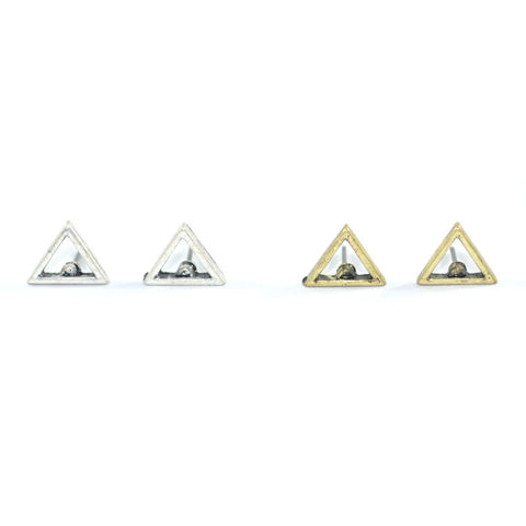 VINTAGE,MINIMAL,TRIANGLE,EARRINGS