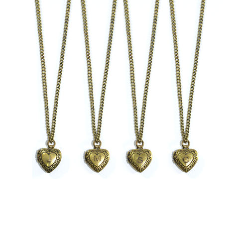 VINTAGE,HEART,CHARACTER,PENDANT,NECKLACE