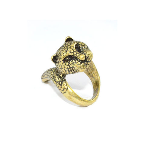VINTAGE,GOLD,TWISTED,LEOPARD,RING,GOLD LEOPARD RING, VINTAGE LEOPARD RING, TIGER RING, RINGS AND THINGS