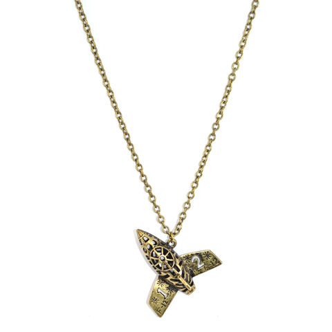 VINTAGE,GOLD,SPACE,SHUTTLE,NECKLACE