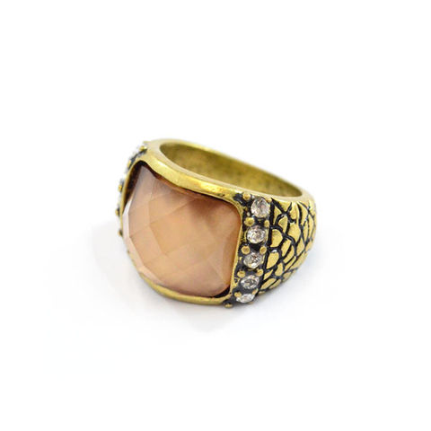 VINTAGE,GOLD,PATTERN,WITH,CRYSTALS,RING,LARGE VINTAGE GOLD RING, BUY VINTAGE RINGS, CHEAP RINGS