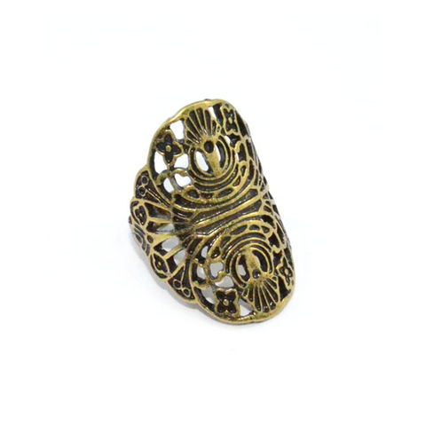 VINTAGE,GOLD,HOLLOW,FLOWER,PATTERN,RING,FLORAL VINTAGE RING, GOLD FLORAL RING, BUY GOLD FLORAL VINTAGE RING