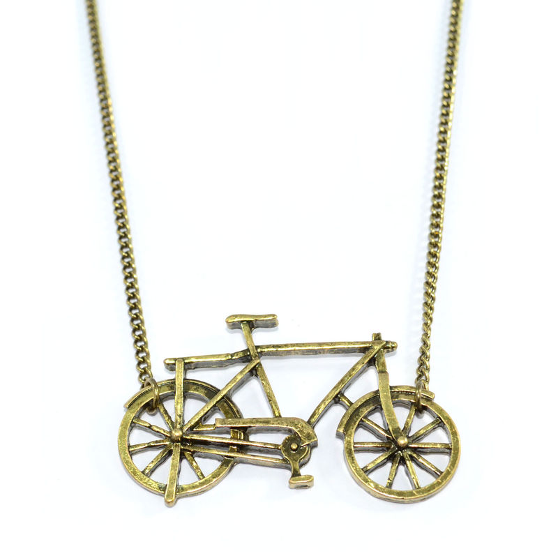 VINTAGE GOLD BICYCLE NECKLACE 111 - product image