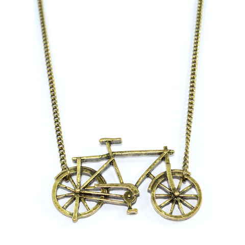 VINTAGE,GOLD,BICYCLE,NECKLACE,111