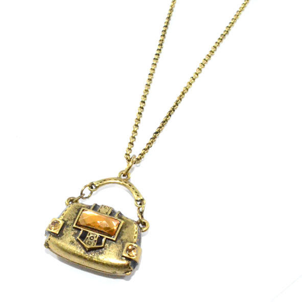 VINTAGE GEM BAG NECKLACE - product image