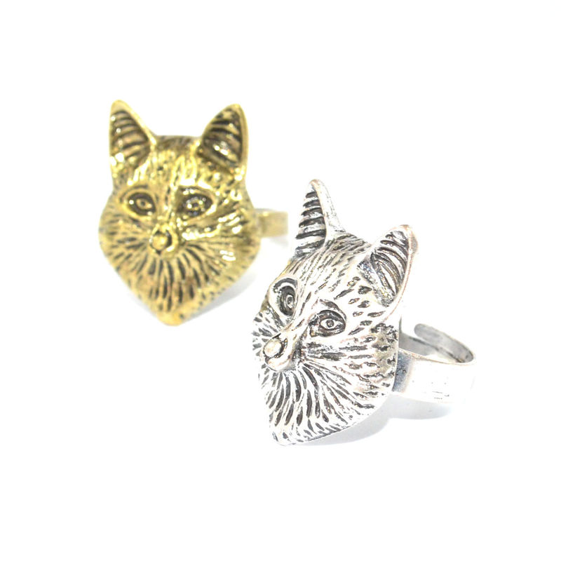 VINTAGE FOX HEAD RING - product image