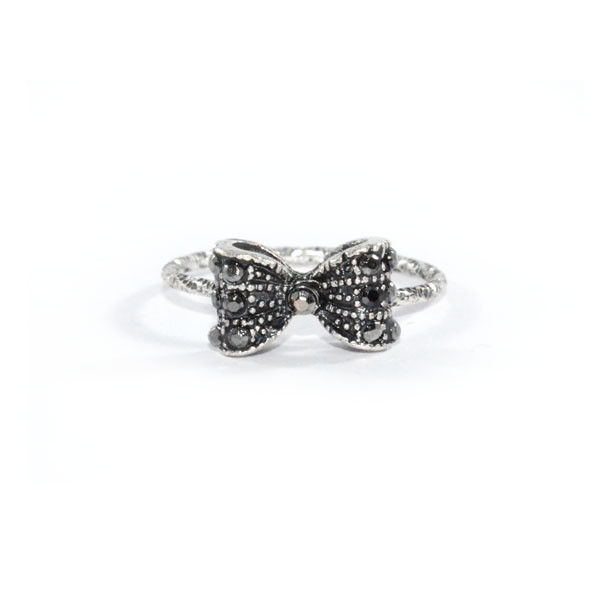 VINTAGE CRYSTAL BOW RING - product image