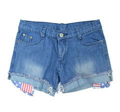 USA,POCKET,DENIM,SHORTS