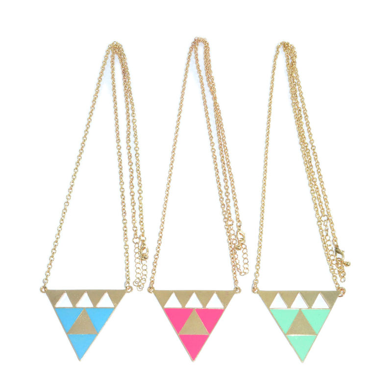 TWO TONE TRIANGLE NECKLACE - product image