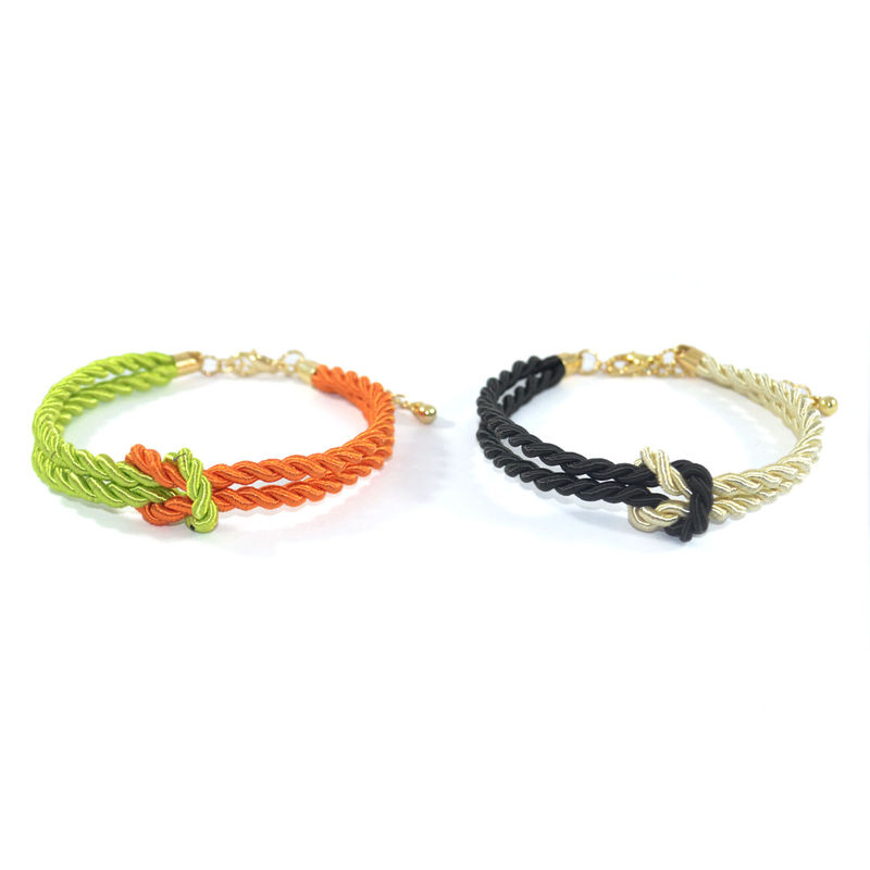 TWO TONE STRAP KNOT BRACELET - product image