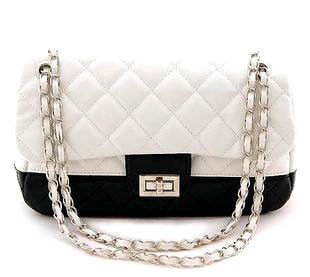 TWO,TONE,QUILTED,BAG