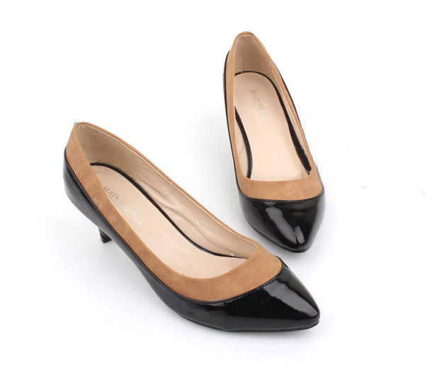 TWO TONE LOW HEEL SHOES - product images
