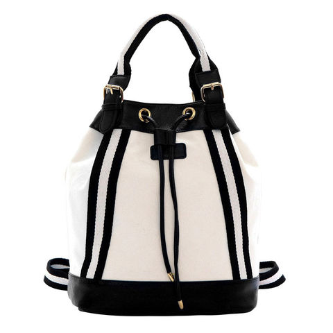 TWO,TONE,COLOR,DRAWSTRING,BAG