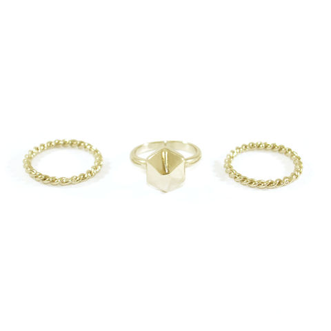 TWISTED,ROPE,RING,SET,minimal fashion rings, fashion minimal