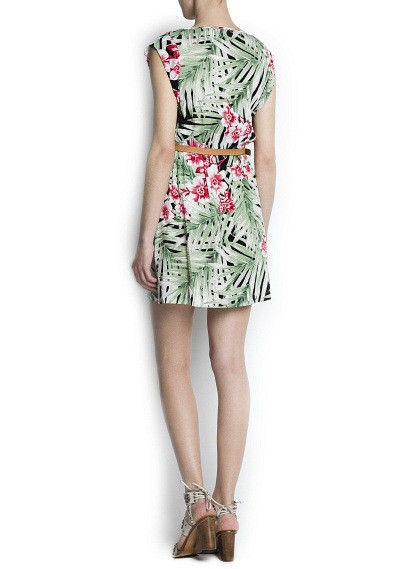 TROPICA FLORAL DRESS - product image