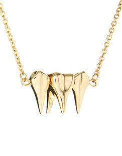 TRIPLE,TOOTH,NECKLACE,111