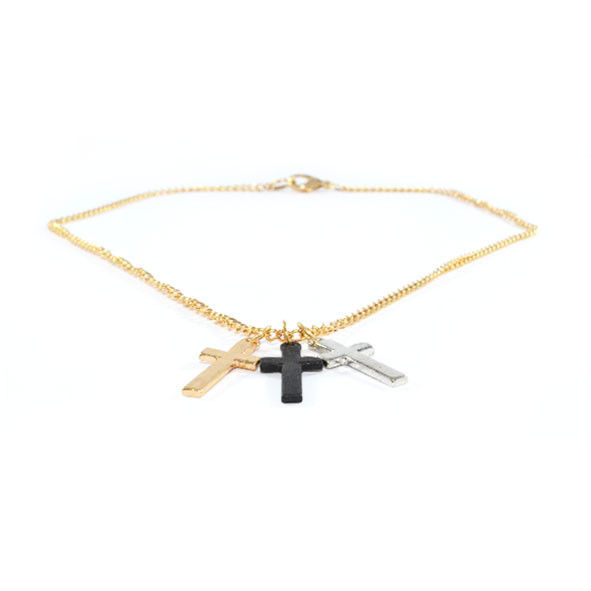 TRIPLE CROSS NECKLACE - product image