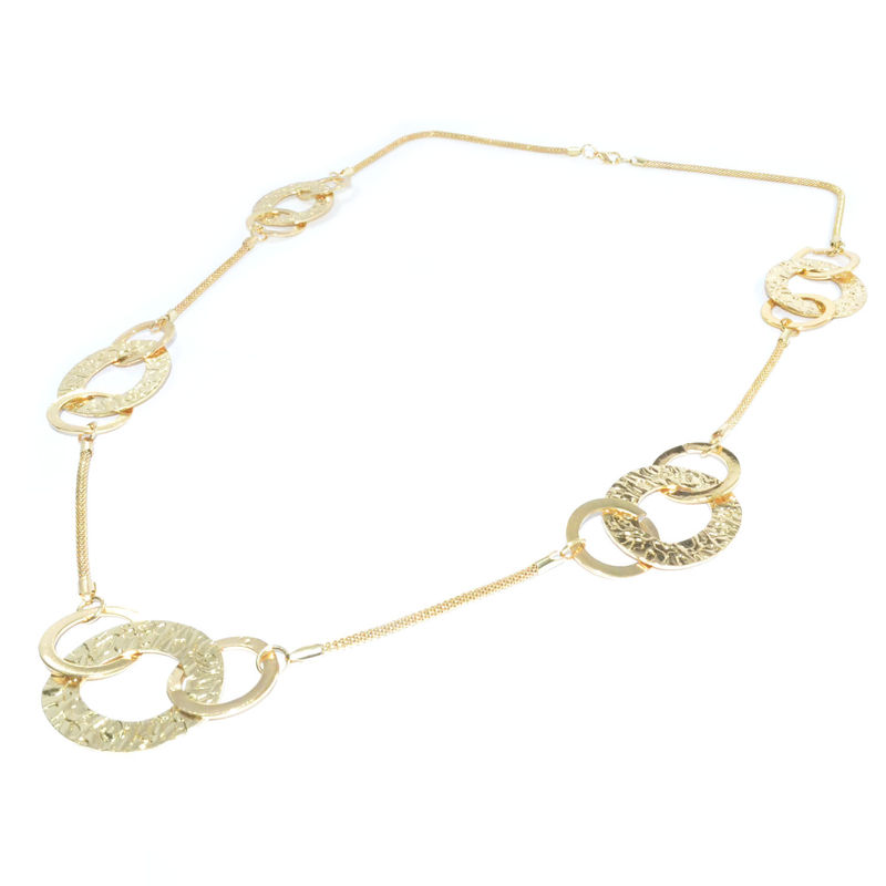 TRIPLE CIRCLE FILM LONG NECKLACE - product image