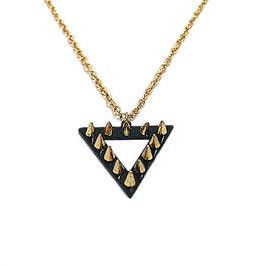 TRIANGLE,STUD,NECKLACE