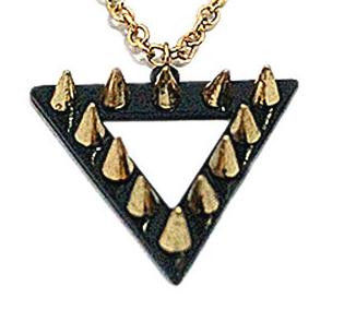 TRIANGLE STUD NECKLACE - product image