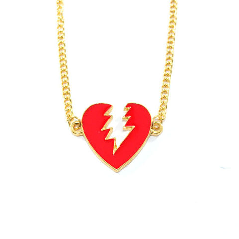 THUNDER,HEART,GOLD,TONE,CHAIN,BRACELET