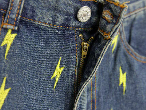 THUNDER BOLT DENIM SHORTS - product image