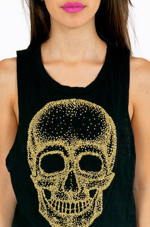TEXTURED SKULL TOP - product image