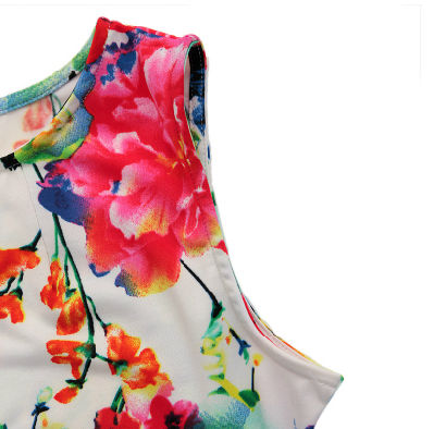 SYMMETRICAL FLORAL DRESS - product image