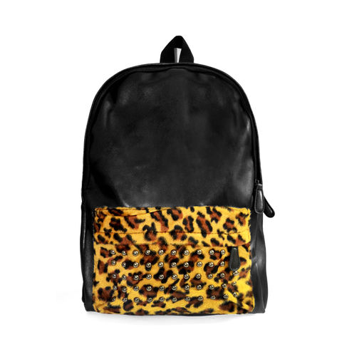 STUDDED,LEOPARD,PRINT,BACKPACK