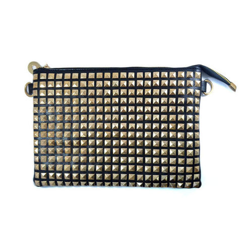 STUDDED,CLUTCH,BAG