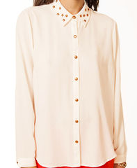 STUD,COLLAR,SHIRT,Shirts/Blouse