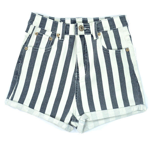 STRIPE DENIM SHORTS - product image