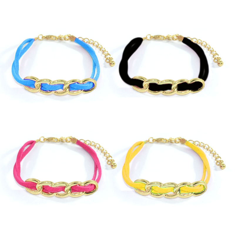 STRAP WITH CHAIN PENDANT BRACELET - product image